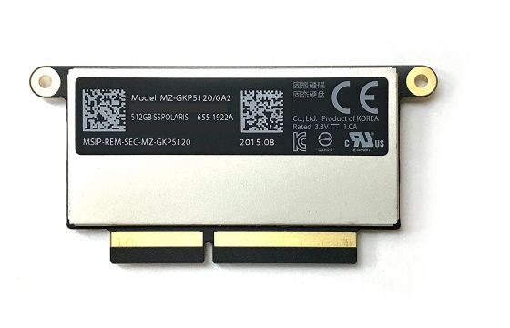 """Apple Genuine 512 GB PCIe SSD for NEW Apple MacBook Pro 2016 13"""" without Touch Bar"""